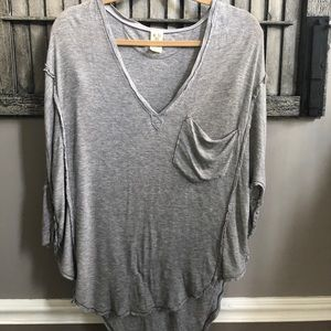 Free People Gray Henley